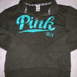 Victoria secret pink half zip